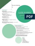 Katie Hambor—Resume