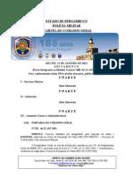 Aditamento ao boletim geral de 12 de janeiro CFC PMPE