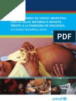 El compromiso de UNICEF Argentina con la salud materna e infantil durante la pandemia de influenza. Acciones desarrolladas