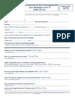 Fiche Demande de Test Covid - Pharmacie Opéra