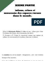DEUXIEME PARTIE_Evolutions, crises et mutations