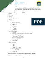 Usando la ecuación de Van der Waals- ejercicio
