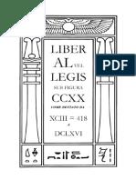 [Crowley a.] Liber Al Vel Legis Sub Figura CCXX