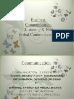 Listening & Non Verbal Communication-Prince Dudhatra-9724949948