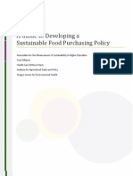 Food Alliance Sustainable Food Policy Guide