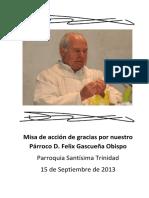 Misa de Accion de Gracias Por Nuestro Parroco d Felix Gascuea Compress