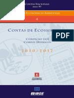 2021 IBGE - Contas de ecossistemas - condição dos corpos hídricos - 2010 a 2017