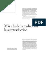 Mas Alla de La Traduccion La Autotraducc