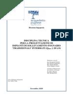 Disciplina tecnica per la progettazione di impianti di sollevamento fognari tradizionali interratii