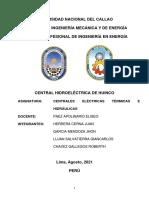Trabajo de Investigacion CENTRAL HIDROELECTRICA DE HUINCO