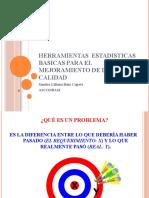 HERRAMIENTAS  ESTADISTICAS BASICAS PARA EL MEJORAMIENTO DE LA CALIDAD