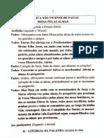 Missa pelas Almas - paróquia S. Vicente de Paulo (Assis)