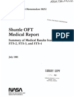 Shuttle OFT Medical Report Summary of Medical Results From STS-1, STS-2, STS-3, And STS-4