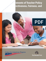 Essential Elements of Teacher Policy in ESEA