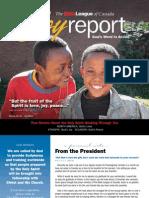 Bible League of Canada - Joy Report Fall 2010