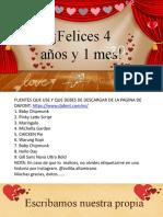 Plantilla de Amor - Aniversario