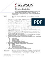 FY11 Director of Activities