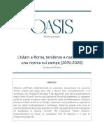 L'Islam a Roma, tendenze e nazionalità. Una ricerca sul campo (2019-2020)