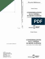 Schuon - Considerazioni Sull'Opera Di Rene Guenon