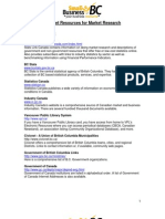 Internet Resources for Market Research