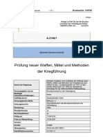 BMVg (13.06.2016) Zentrale Dienstvorschrift Prüfung neuer Waffen, Mittel und Methoden der Kriegführung Version 1. A-2146-1