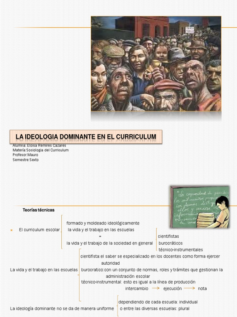 La Ideologia Dominante en El Curriculum