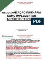 REGULARIZAÇÃO FUNDIÁRIA - ASPECTOS TÉCNICOS