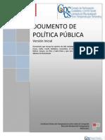Documento inicial de Política Pública de Transparencia y Lucha contra la Corrupción