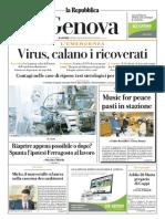 La Repubblica Genova 02 Aprile 2020