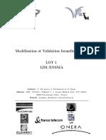 Modélisation et Validation formelles d'IHM