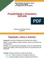 PEA Aula 1- Populacao estatistica aula list