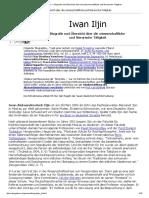 Iwan Iljin __ Biografie Und Übersicht Über Die Wissenschaftliche Und Literarische Tätigkeit