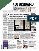 L eco di Bergamo 19 Aprile 2020