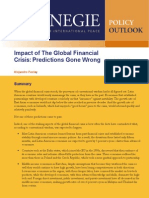 Impact of The Global Financial Crisis