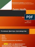Шушаков Данила z112 ГМУ - Рынок труда - ПИУ им. П. А. СТОЛЫПИНА
