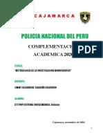 TRABAJO METODOLOGÍA DE LA INVESTIGACION MONOGRAFICA CICLO III