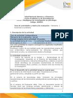 Guía de actividades y rúbrica de evaluación - Unidad 1 - Momento 1 - Reconocer el problema