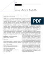 Three-dimensional finite element method for the filling simulation