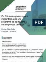 Passos Para Implantação de Programa de Compliance KARINE DIAS