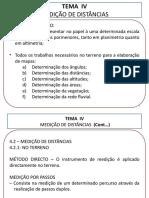 Tema 4 -  Medição de Distâncias