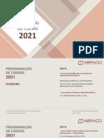 Calendario de Cursos 2021