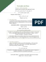 Formulário de física