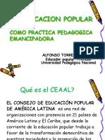 La Educación popular como práctica pedagógica emancipadora