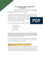Sistema de Costos por Órdenes Específicas de Producción