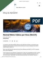 AlphaEM - Consultoria e Engenharia_Nm3_hora