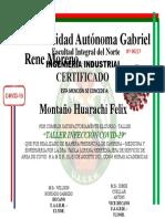 certificado COIVD 19
