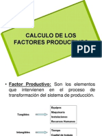 Calculo de factores productivos