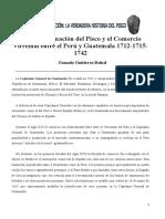 Gonzalo Gutierrez Reinel - La Denominacion Del Pisco y El Comercio Virreinal Entre El Perú y Guatemala 1712-1715-1742 (2021)