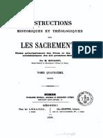 Instructions historiques et théologiques sur les sacrements (t. 4) - M. Boucarut