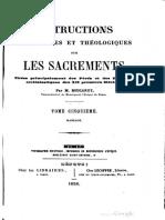 Instructions historiques et théologiques sur les sacrements (t. 5) - M. Boucarut